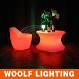 LED現代RGBの円形のコーヒーテーブル