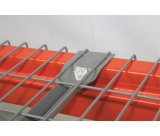 Decking galvanizado personalizado do engranzamento de fio para o racking da pálete