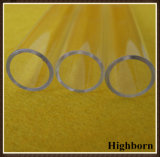 La radura di resistenza termica ha fuso la tubazione personalizzata di lucidatura di vetro di quarzo del silicone