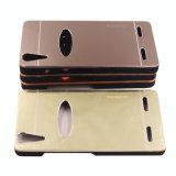 Espejo duro 2 del metal en 1 caja del teléfono de PC+Metal para el iPhone 6 6splus 7 7plus