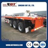 2016 Obt Brand 40feet 3axle Flatbed Semi Trailer