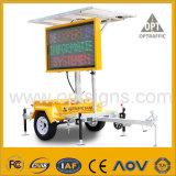 Remorque actionnée solaire de VMs de poteau de signalisation de sécurité routière d'éclairage LED