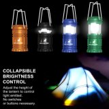 zusammenklappbare wasserdichte Laterne-Taschenlampe des Zelt-3AAA kampierende des Licht-LED