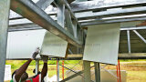 쉬운 Prefabricated 강철 프레임 샌드위치 위원회 별장 집을 설치하십시오
