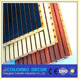 Placas acústicas do teto da madeira de madeira quadrada natural pura