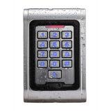 Contrôle d'accès imperméable à l'eau d'IDENTIFICATION RF de porte de carte de clavier numérique en métal d'IP 65