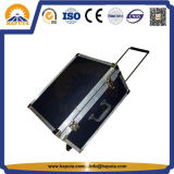 Cassa personalizzata di alluminio della strumentazione della casella di memoria del nero della cassa del carrello con la maniglia (HF-1600)