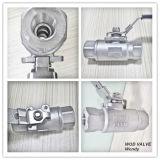Vávula de bola de alta presión 2PC CF8/CF8m