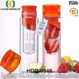 изготовленный на заказ бутылка воды Tritan вливания плодоовощ 600ml, пластичная бутылка воды вливания плодоовощ (HDP-0846)