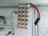 T10 W5w C5w 31 - 42のmm 3のアダプター内部のドームライトマップ12 Vの車の読書ランプの6つのSMD 5050 SMD赤い自動ライト