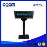Heißer Selling Double Line Serial USB Port Optional Small Alphanumeric VFD Customer Pole Display mit Stable Stand