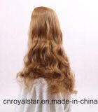 熱い販売のブラウンの波の毛のFsahionの合成物質のかつら
