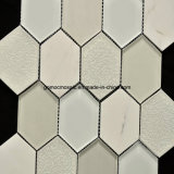 경이로운 Crackle Ice Ceramic & Hexagonal Shape를 가진 Glass Mosaic