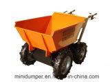 Привод с цепной передачей 4X4 Dumper тачки колеса плантации 4 ладони Kt-Md300c миниый