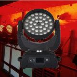 Precio bajo 36*18W 6 en 1 luz principal móvil de la etapa LED