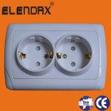Standard16a 250V zwei Gruppe-elektrische Wand-Kontaktbuchse Europa-(F3210)