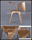 Présidences rustiques en métal de banquet avec la garniture en bois