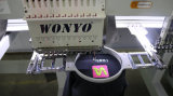 High Speed Computerized Tubular Een Head Embroidery Machine met Touch Screen voor Cap / Garment / T-Shit Compact Embroidery