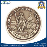 Pièce de monnaie personnalisée de Matel de côté de double de logo pour le souvenir