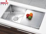 DrainboardのTopmountのステンレス鋼のハンドメイドの流しは、手作りする流し、台所の流し、洗浄流し(HMTS3220L)を