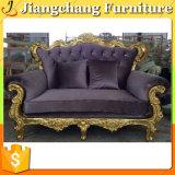 Sofa de luxe français de cuir d'or de prix concurrentiel (JC-SF1661)