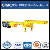 Cimc 40FTの三車軸骨組みトレーラーか骨組トレーラー
