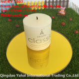 4mm Round Yellow Bevel Glass Mirror Candle Holder