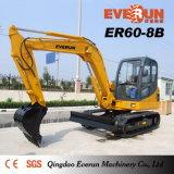 Máquina escavadora da esteira rolante do tipo Er80-8b de Everun com Ce