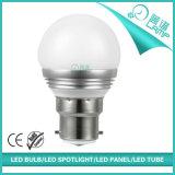 Pequeña bombilla de aluminio del bulbo B22 5W G45 LED