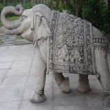 Sculpture de marbre de découpage animale en éléphant