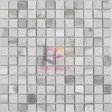 白い大理石の組合せの銀のアルミニウムモザイク・タイル(CFA74)