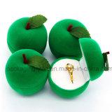 La caja de joyería de encargo Apple forma la caja reunida caja del anillo del terciopelo