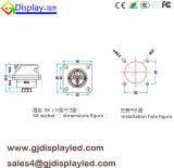 Conectores de potencia de la GE de la silicona de la aleación IP65 del cinc