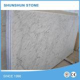 Bianco白いカラーラの大理石の平板(高品質、よい販売)
