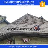電流を通されるシート、多彩な石の上塗を施してある金属の屋根瓦に屋根を付ける
