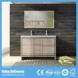 Meubles fixés au sol nets de vente chauds de salle de bains en bois solide (BV219W)