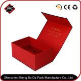 Caja de embalaje del rectángulo del papel verde del regalo para el cosmético