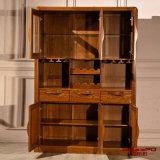 Cabina sólida del vino rojo del roble de los muebles caseros modernos (GSP9-055)
