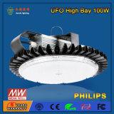 100W UFO LED PC 덮개를 가진 높은 만 점화를 주문을 받아서 만드십시오