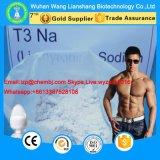 보디 빌딩 T3 Prohormone를 위한 뚱뚱한 불타는 L Triiodothyronine CAS 55-06-1는 Liothyronine 나트륨을 보충한다
