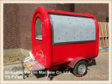 Ys-Fv300-6 de rode Auto van het Voedsel van de Vrachtwagen van het Voedsel Mobiele voor Verkoop
