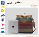 새로운 디자인 어깨에 매는 가방 여자 단 하나 줄무늬 어깨에 매는 가방