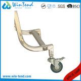正方形の管のクリーニングの大箱およびバスケットが付いている清算によって曲げられる足のガーベージのトロリー