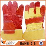 Gants fonctionnants de sécurité du travail de gants de cuir faux de la CE En388 pour des ouvriers