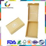 Boîte ondulée ondulée pliable personnalisée avec impression couleur pour l'emballage du produit