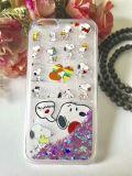 Cajas coloridas del teléfono de la pintura del diseñador con brillo adentro para Samsung