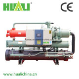 Doppia pompa termica raffreddata del refrigeratore di acqua del compressore della vite aria/sorgente di aria/aria-acqua.