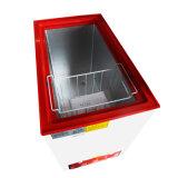 Congélateur simple ouvert de poitrine de porte de vente de dessus simple chaud de la température