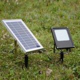 15W 120 LED proiettore solare puro di controllo chiaro dell'indicatore luminoso solare del giardino da 1000 lumen per esterno dell'interno
