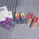 Les chaussures occasionnelles de femmes les plus neufs des sports respirables de Slip-on en gros personnalisent (MB7092)